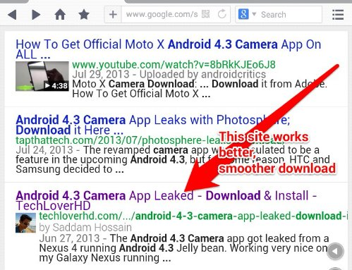Android 4.3 Camera App Now Is Ready For Non-Jelly Bean 4.3 ...